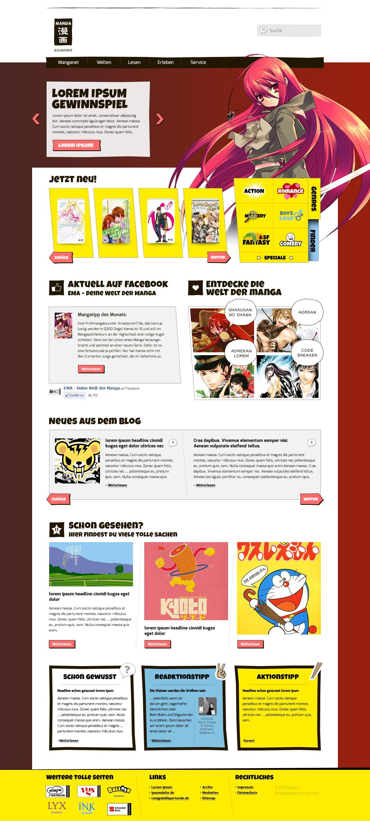 Entwicklung eines Brandings und eines Webdesign für einen Verlag aus Köln - Startseite