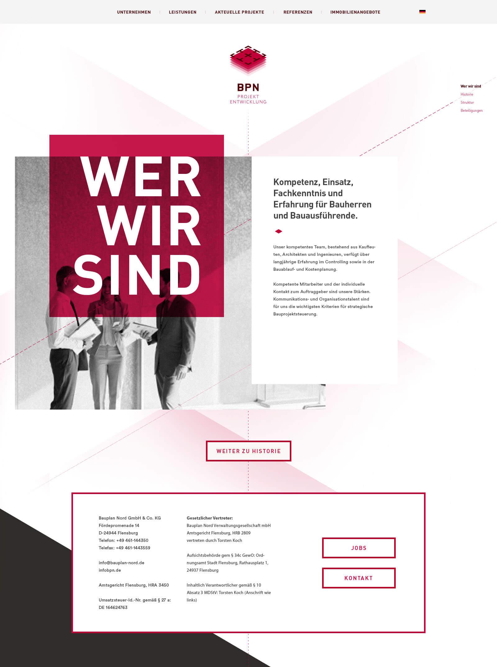 Webdesign für ein internationales Ingenieurbüro - Startseite
