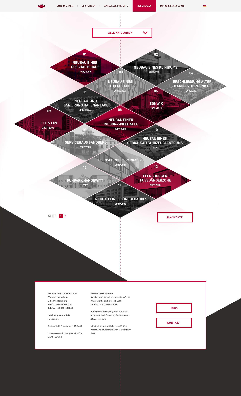 Webdesign für ein internationales Ingenieurbüro - Projektübersicht