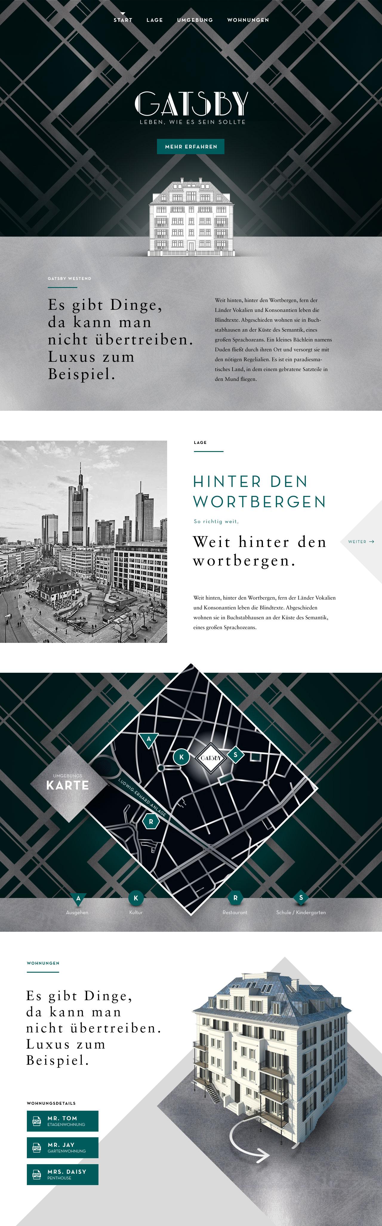 Gestaltung einer Immobilien-Vermarktungs-Webseite