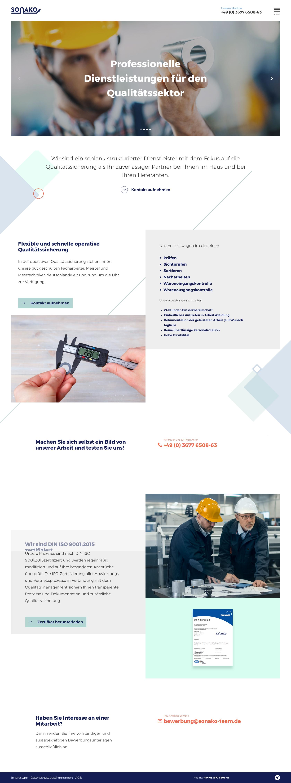 Das Design der Startseite mit vielen netten Micro Interactions