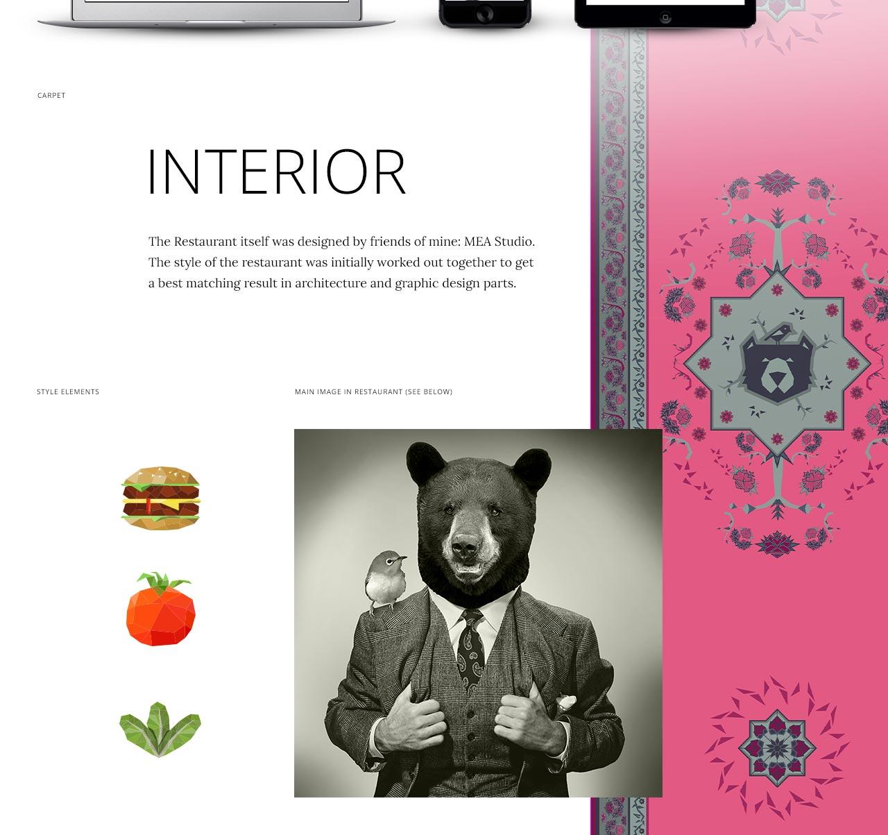 Bob und Mary: Branding und Webdesign - Übersicht - mit Teppich