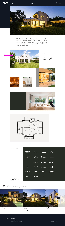 Webdesign und Branding für ein Immobilienunternehmen: Home Gräfelfing - Startseite