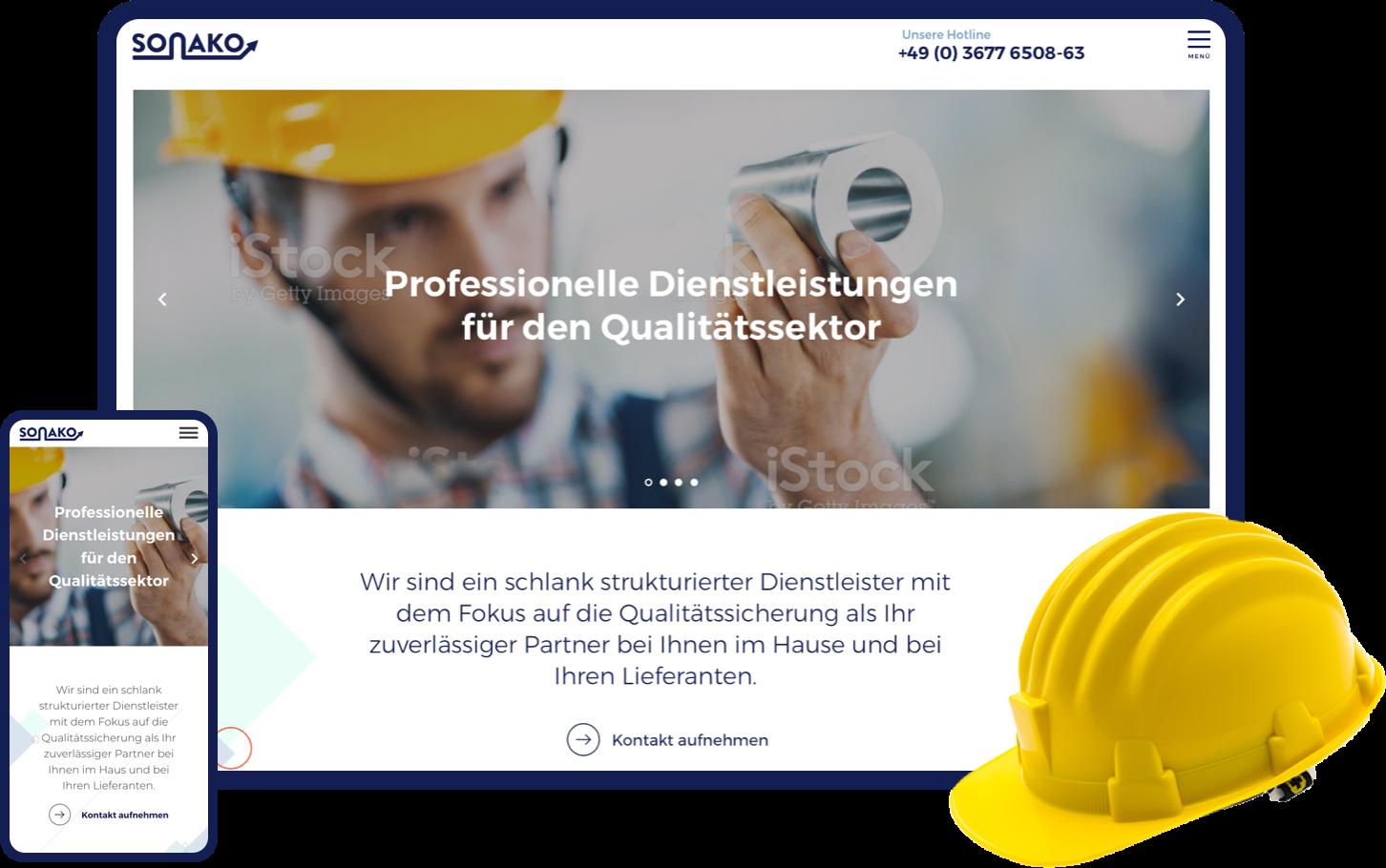 Logo Redesign und Gestaltung einer Webseite für ein mittelständisches Unternehmen - Ein Projekt von Matteng - Webdesign Freelancer aus Düsseldorf. Schau mal rein!