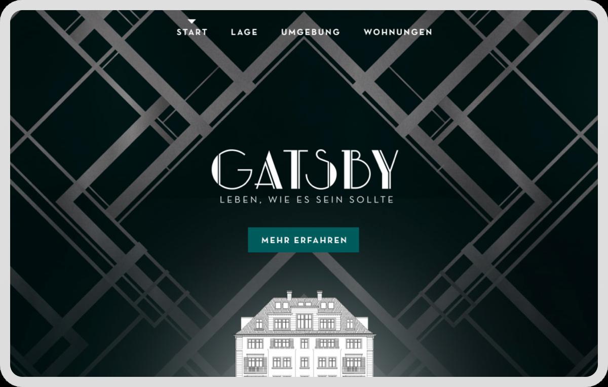 Entwicklung einer Marke sowie eines Webdesigns im Rahmen eines Pitches für einen Projektentwickler