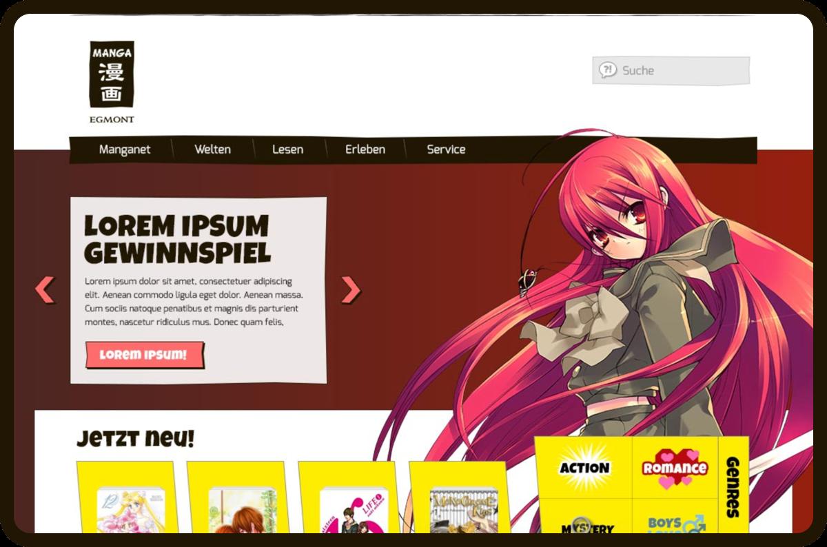 Entwicklung eines neuen Looks und einer Webseite für eine Online-Community.