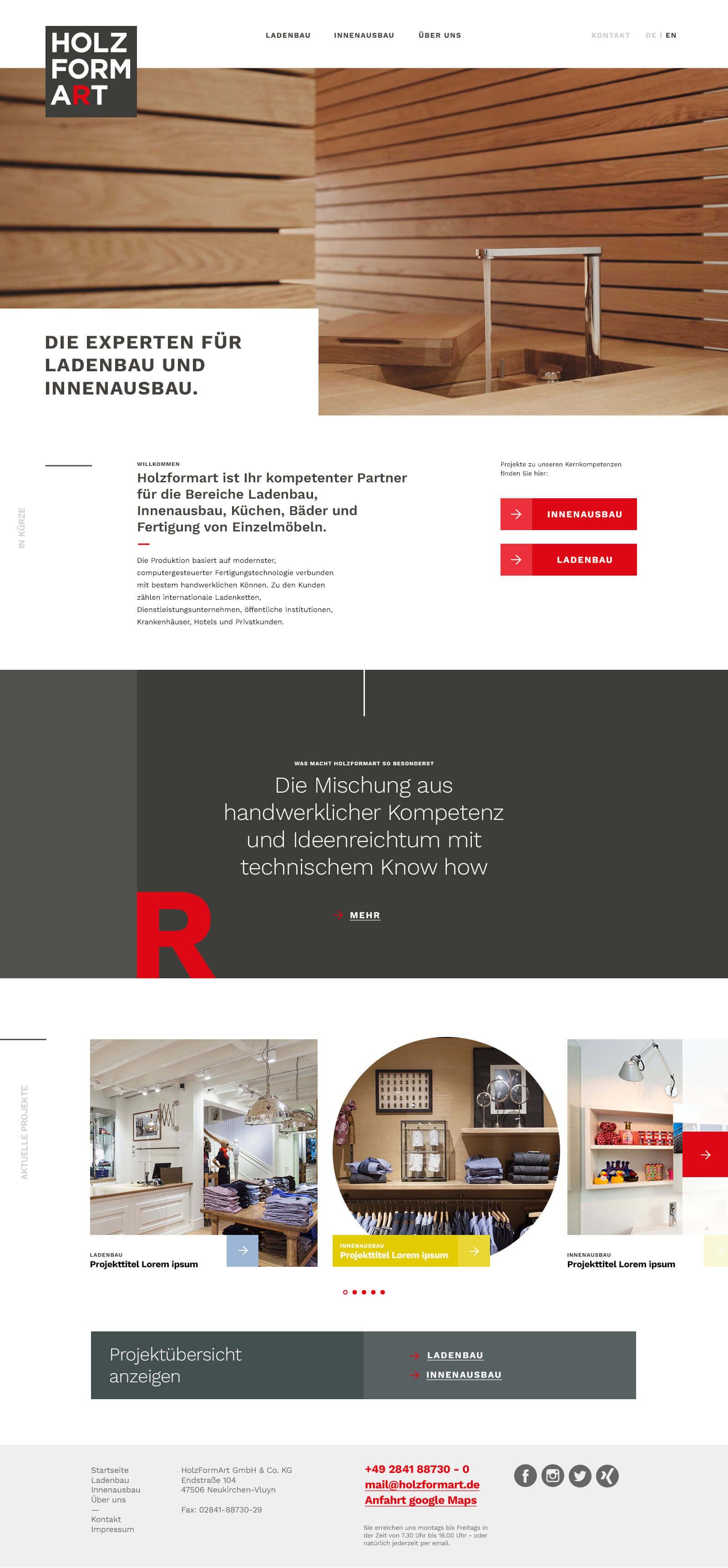 Holzformart - Webdesign und digitales Branding - Homepage