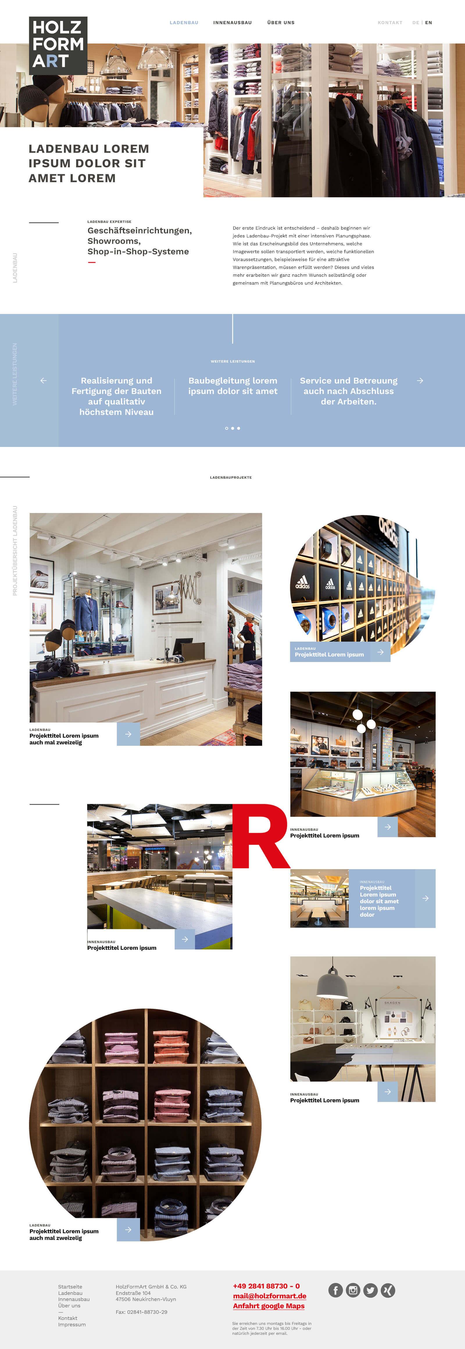 Holzformart - Webdesign und digitales Branding - weitere Case-Seite