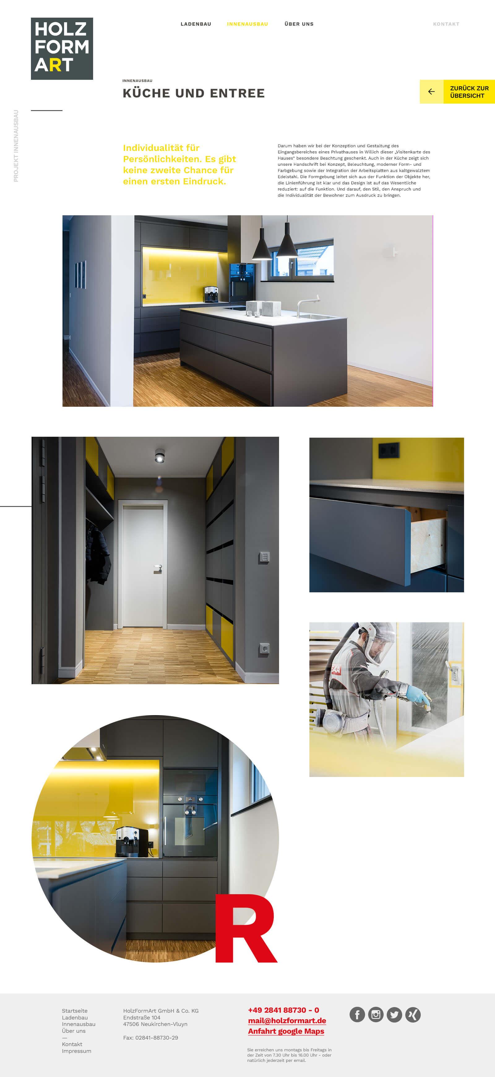 Holzformart - Webdesign und digitales Branding - Case Seite
