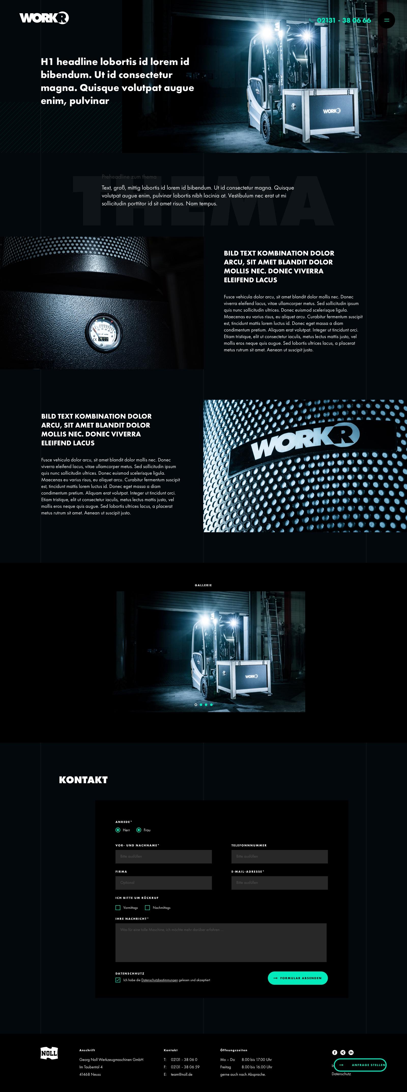 Workr Homepage Webdesign & Digital Branding - SEO-Seite