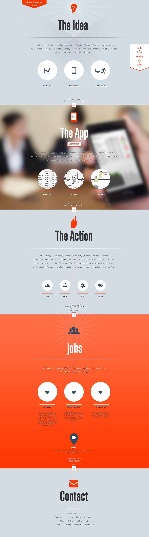 Webdesign für dens.io