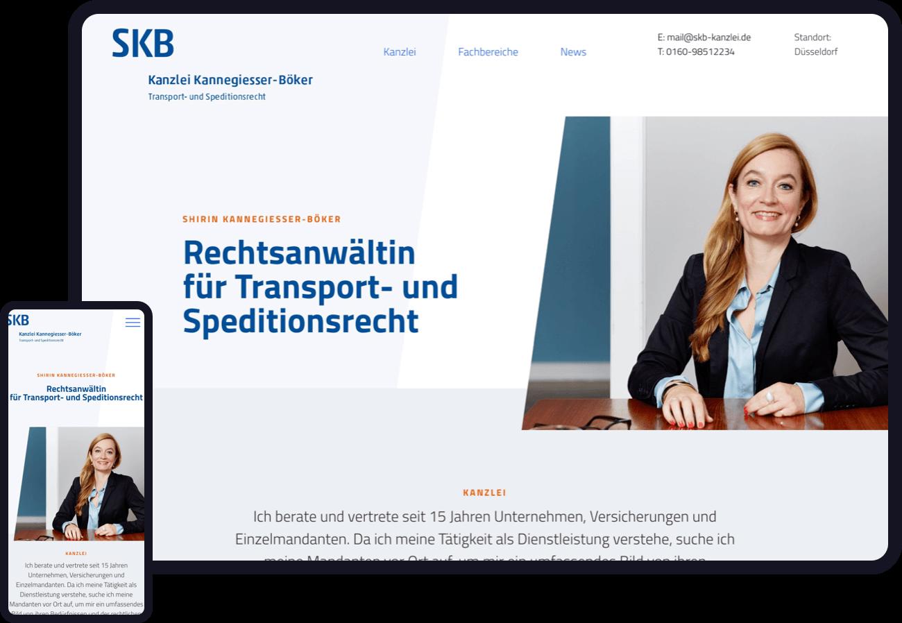 Gestaltung einer Webseite und eines Corporate Designs für eine Anwaltskanzlei. Jetzt Webdesign Case ansehen.