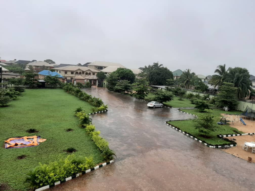 A view of the garden in Asaba Gardens and Resort