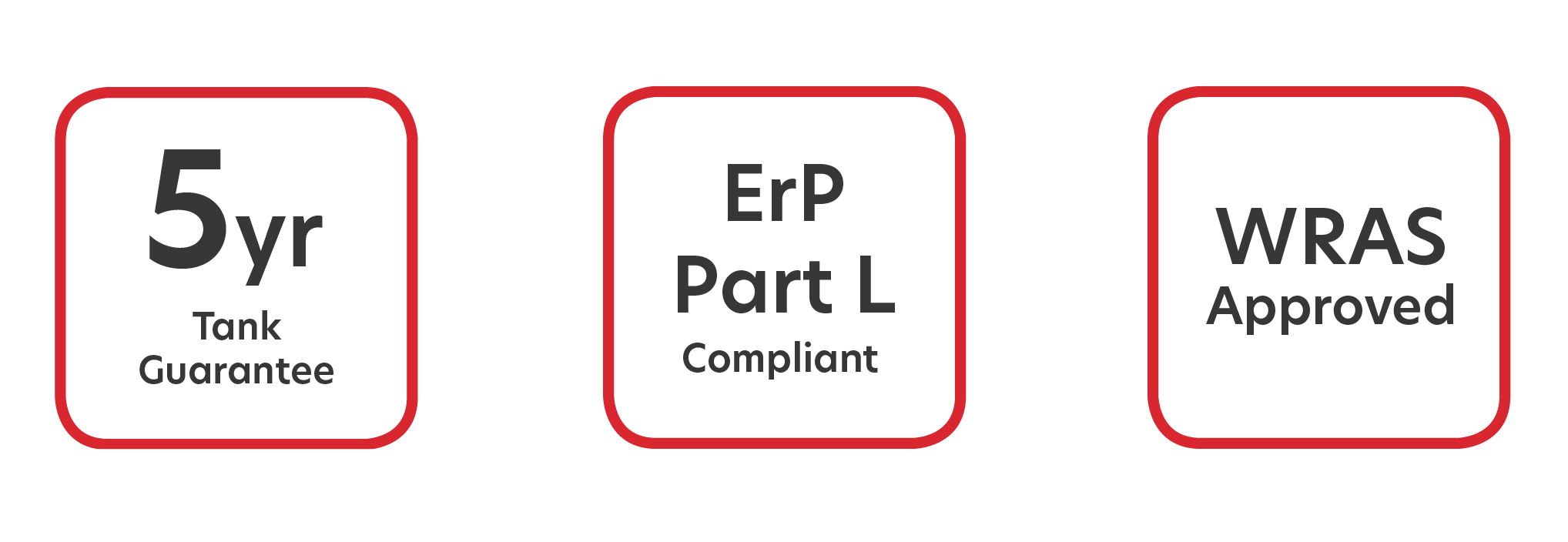 5yr Tank Guarantee ErP Part L Compliant WRAS Approved
