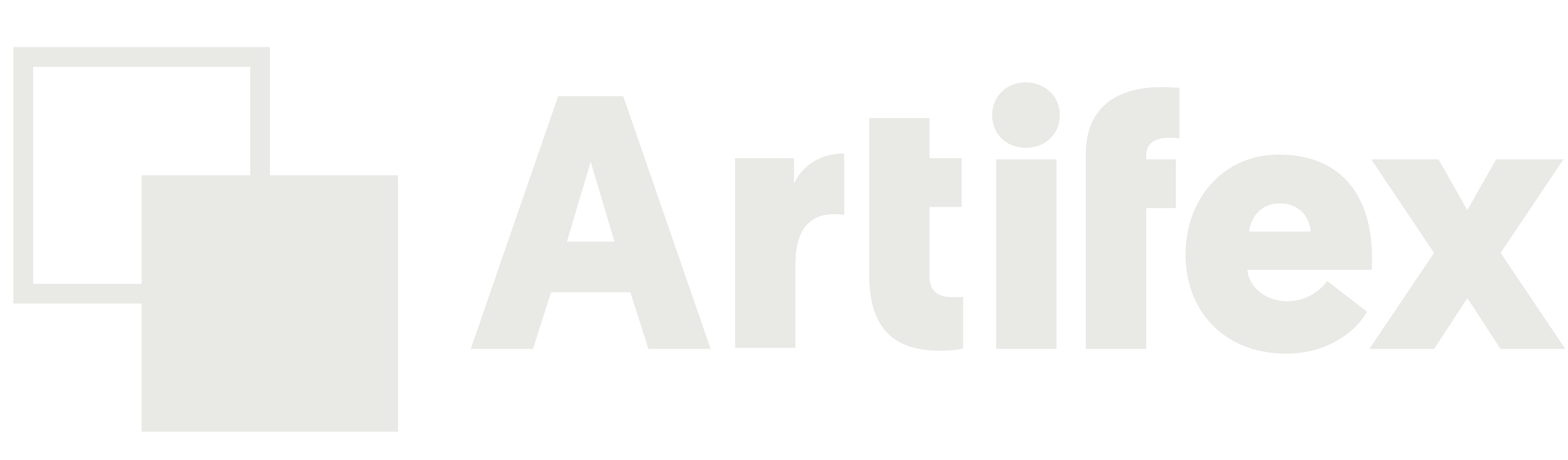 Artifex Logo. Two boxes linked together. One box is outlined and the other is filled. This signifies that branding is matchmaking.