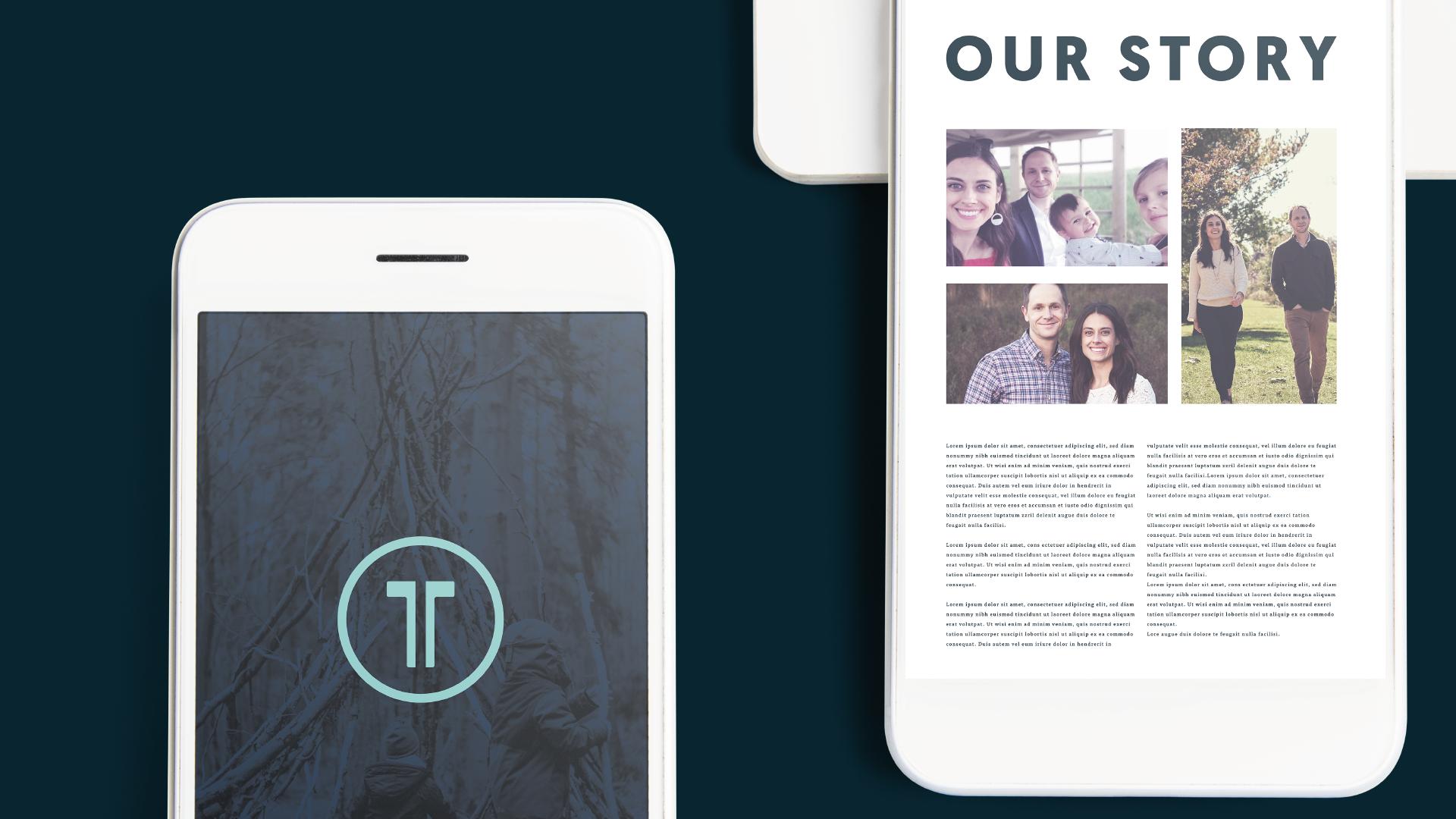 A mobile mockup of the Tandem website.