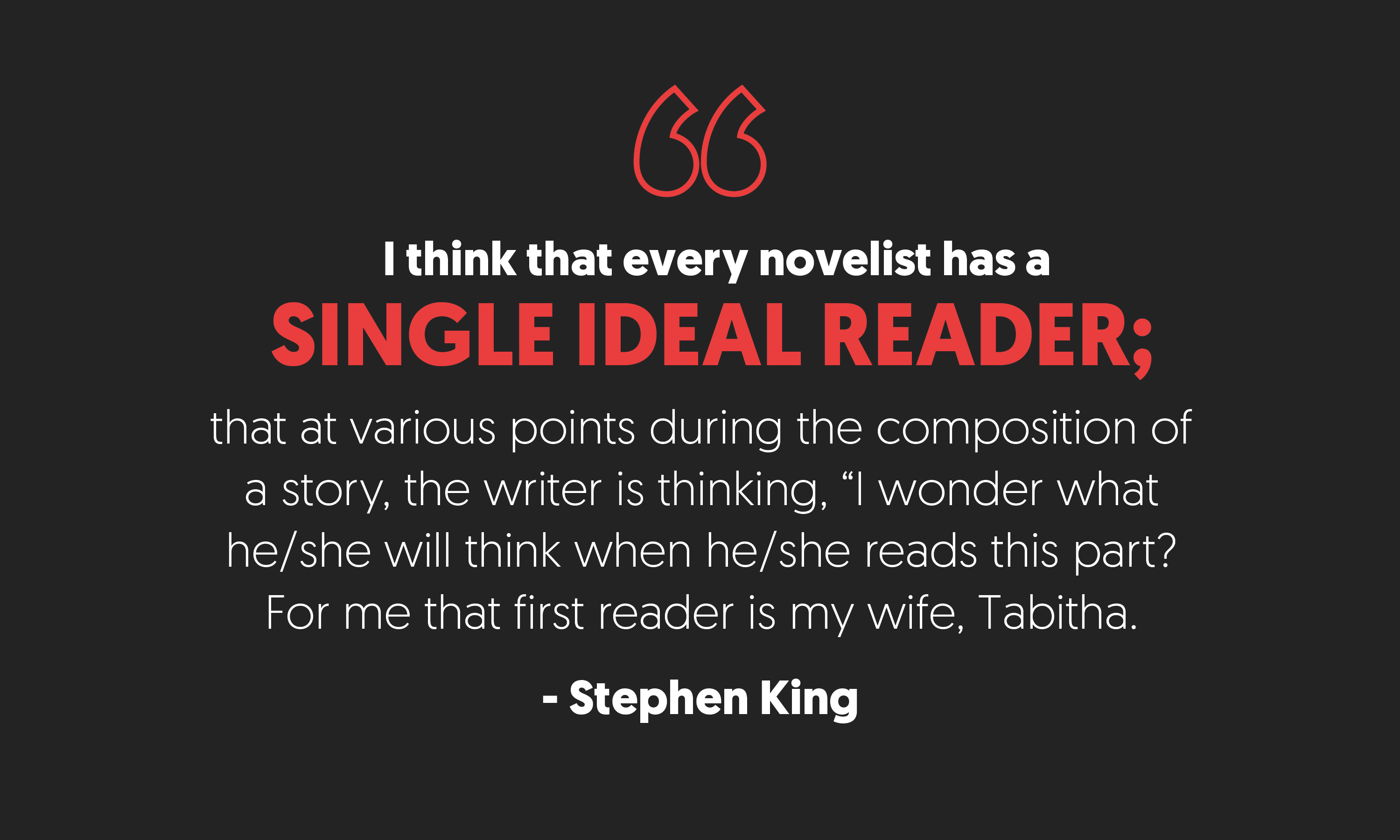 Stephen King Quote from On Writing.