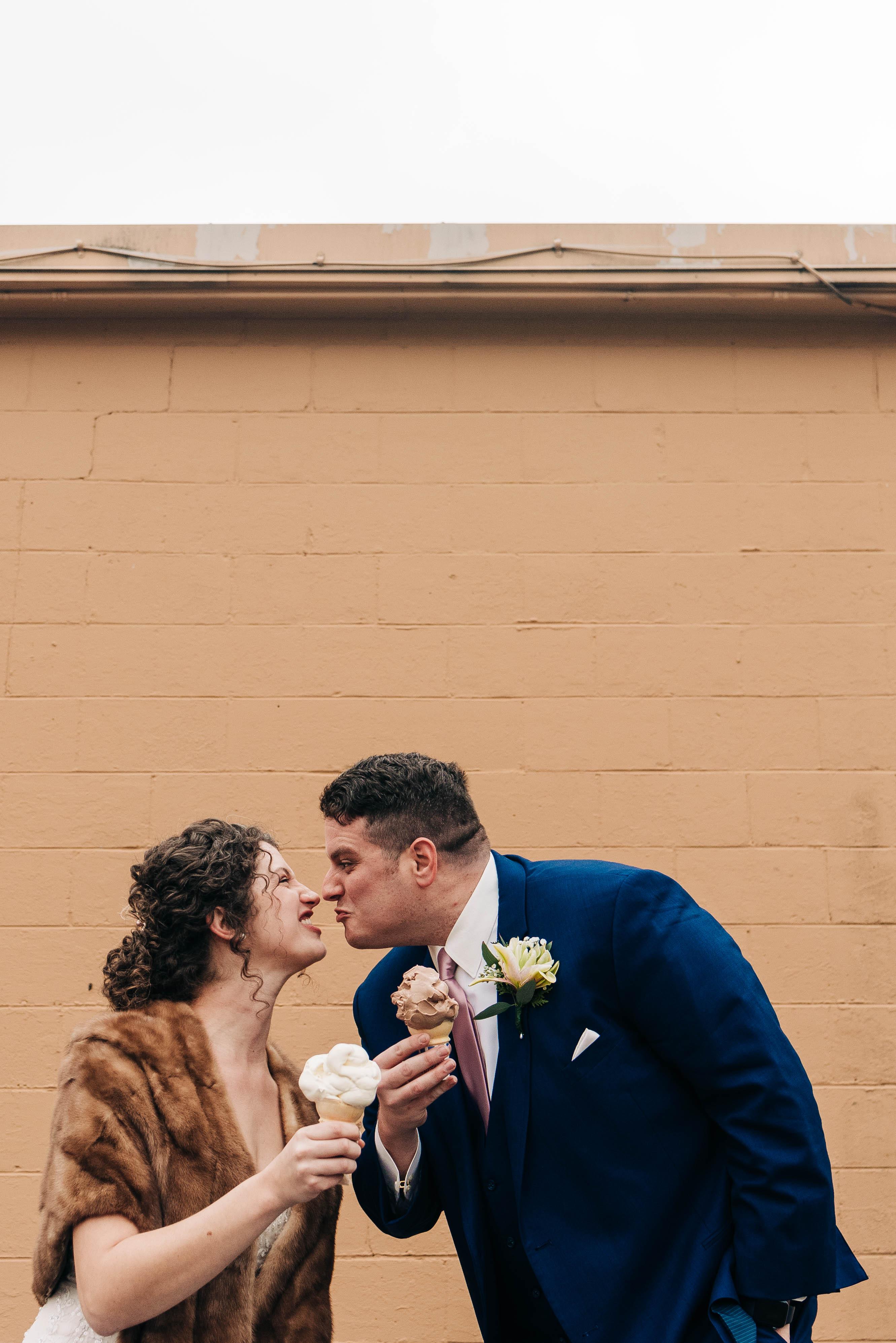 Wedding photo of my wife and I.
