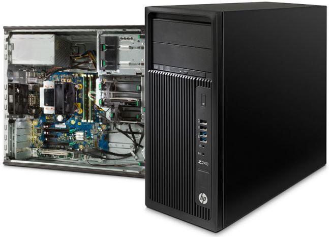 Máy tính HP Workstation Z240 có thiết kế đẹp mắt