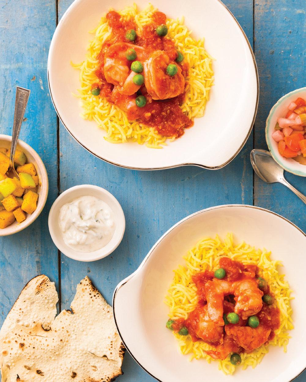 Curry Leaf Coriander Shrimp Curry