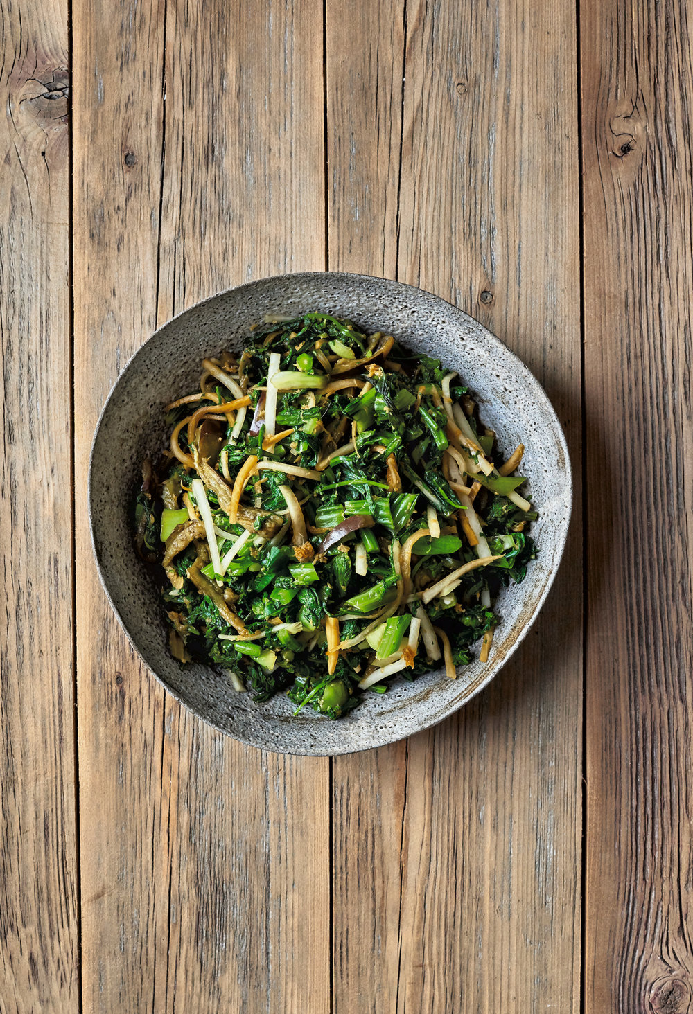 Ginger-Infused Greens and Vegetables