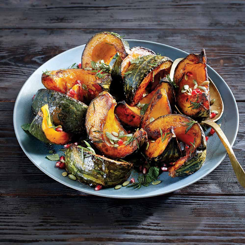 Roasted Kabocha Squash with Pepitas & Rosemary Brown Butter