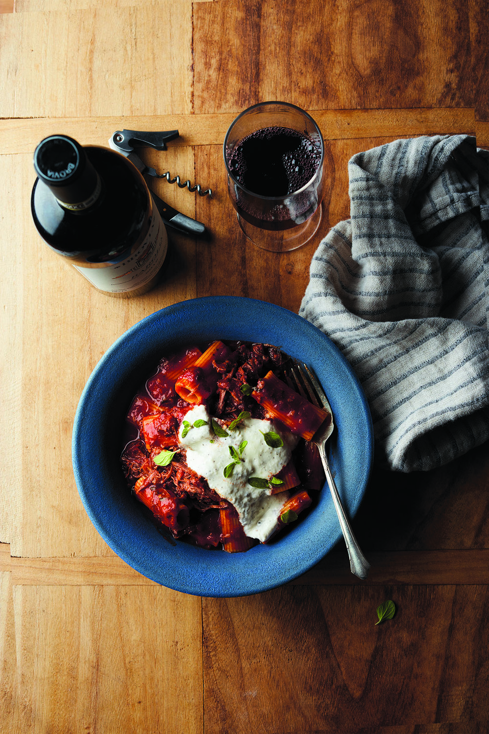 Slow-Braised Lamb Ragu with Rigatoni and Whipped Ricotta