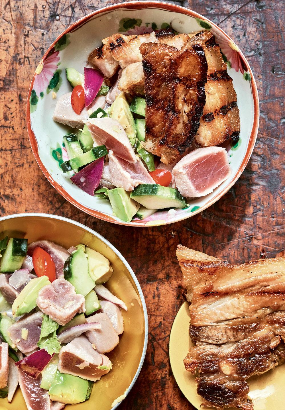 Sinuglaw (Cured Tuna With Grilled Pork)