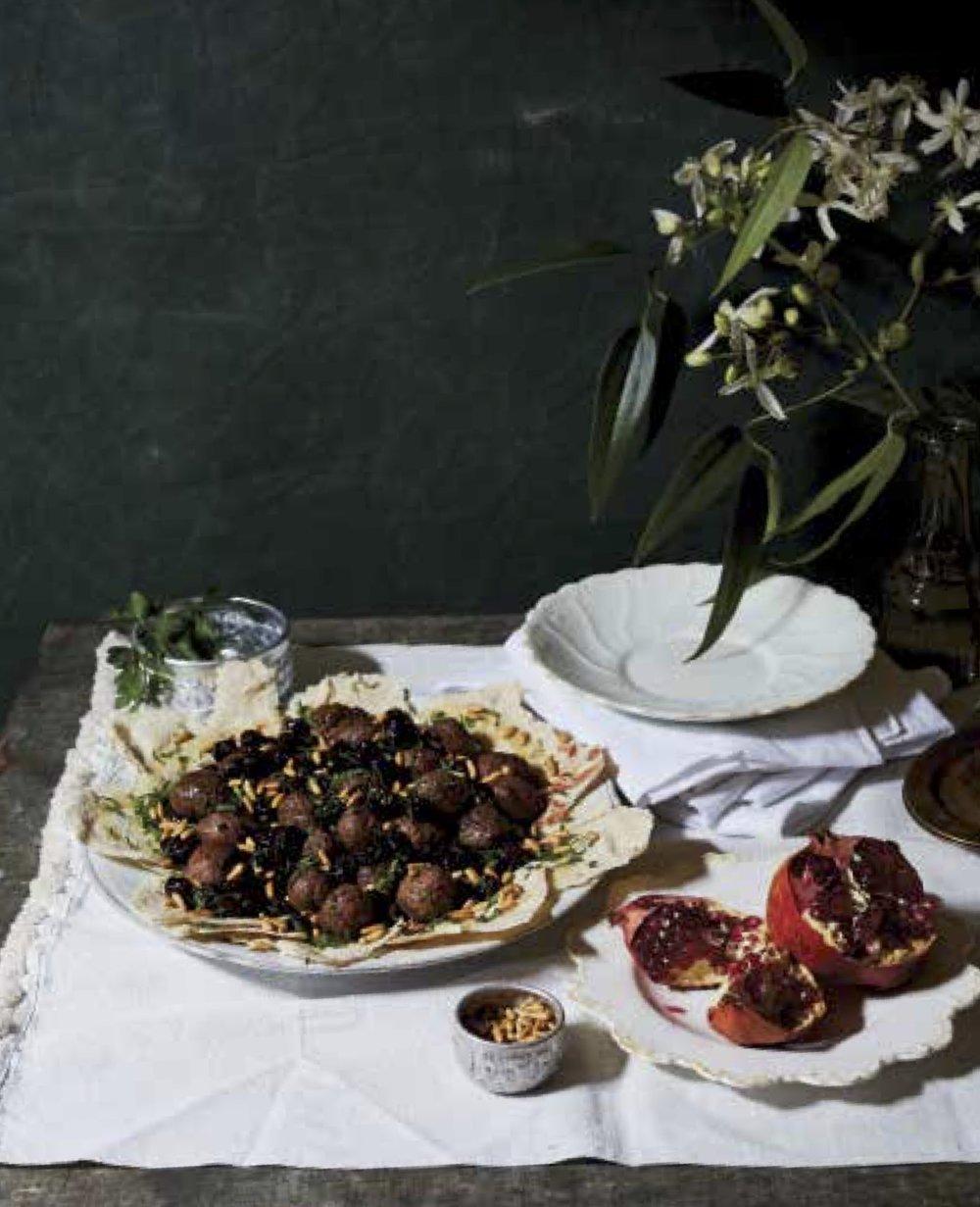 Meatballs in Sour Cherry Sauce (Kabab Karaz)