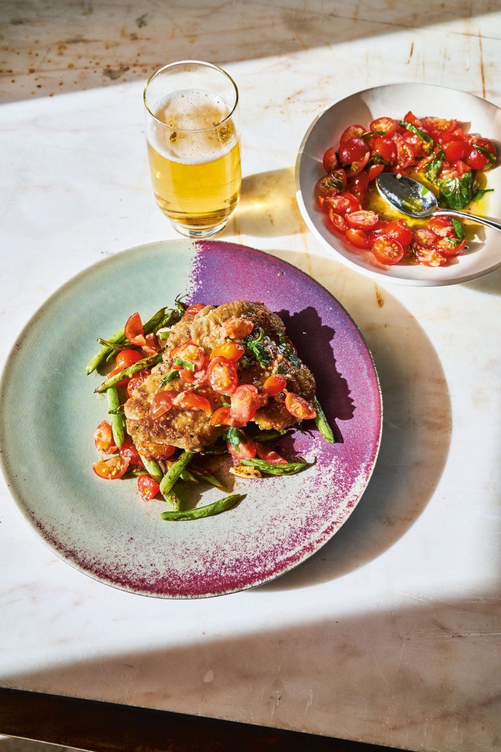 Pan-Fried Chicken Thighs with Italian Salsa