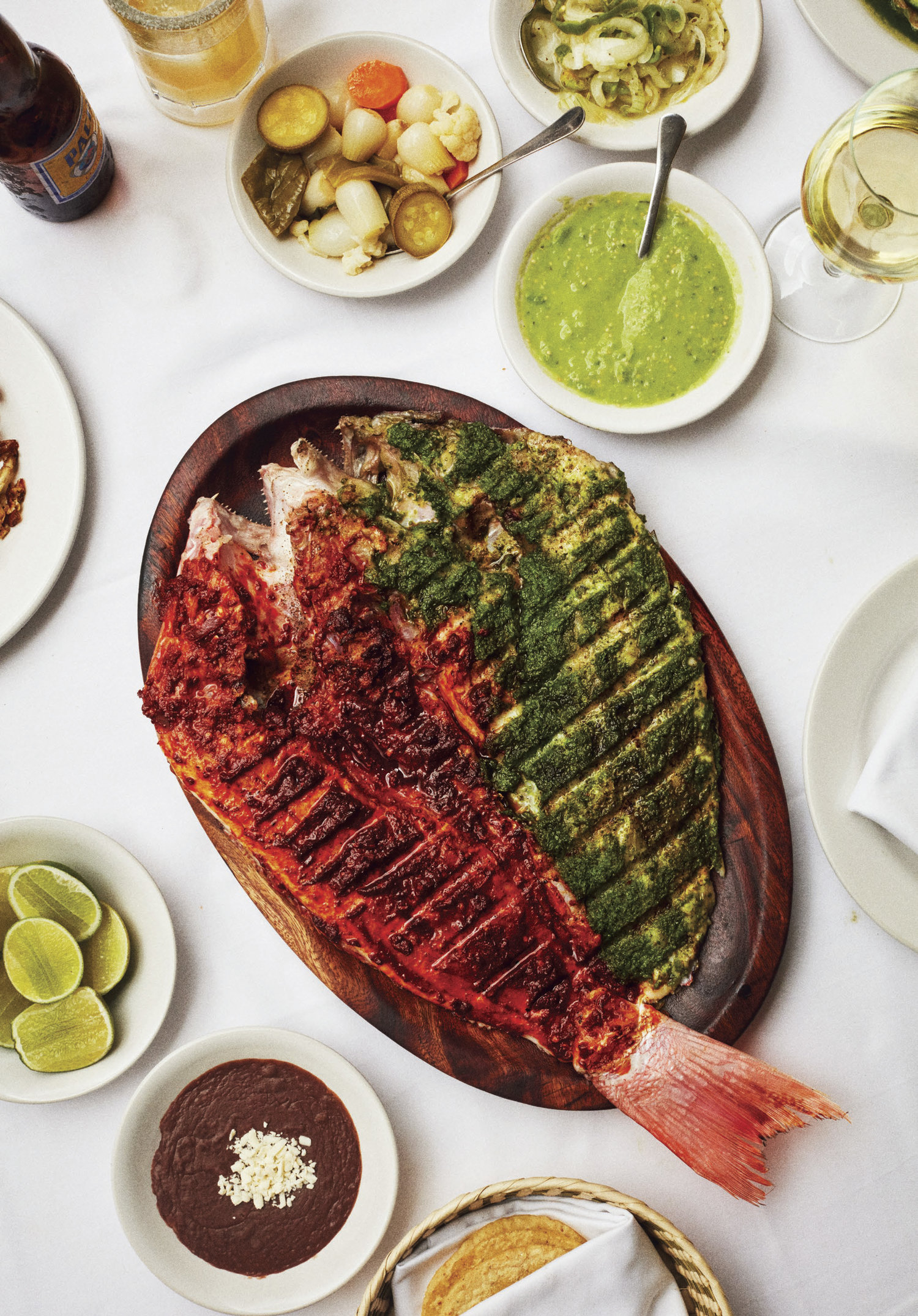 Pescado a la Talla (Contramar's Signature Red and Green Grilled Red Snapper)