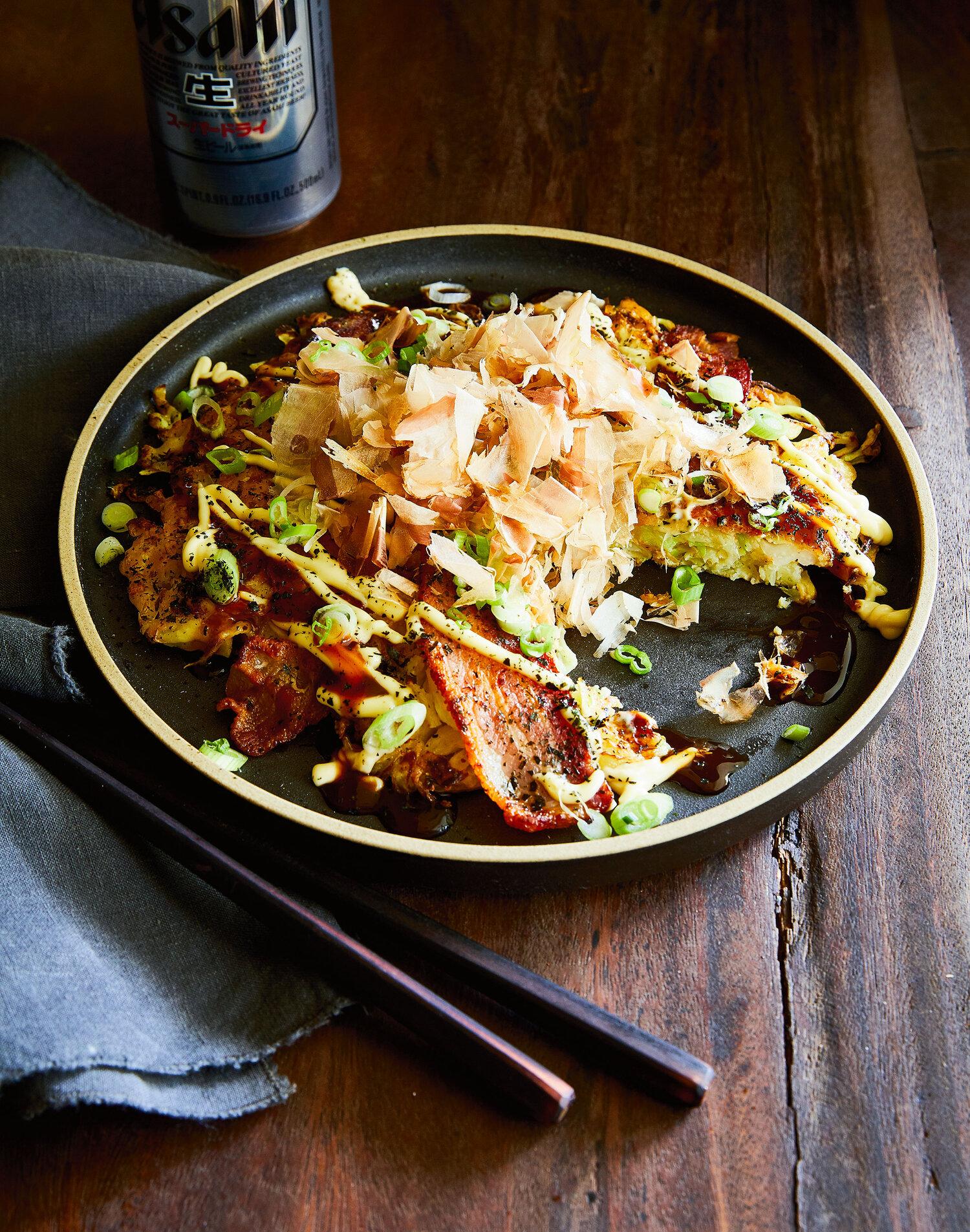 Savory Pancakes (Okonomiyaki)
