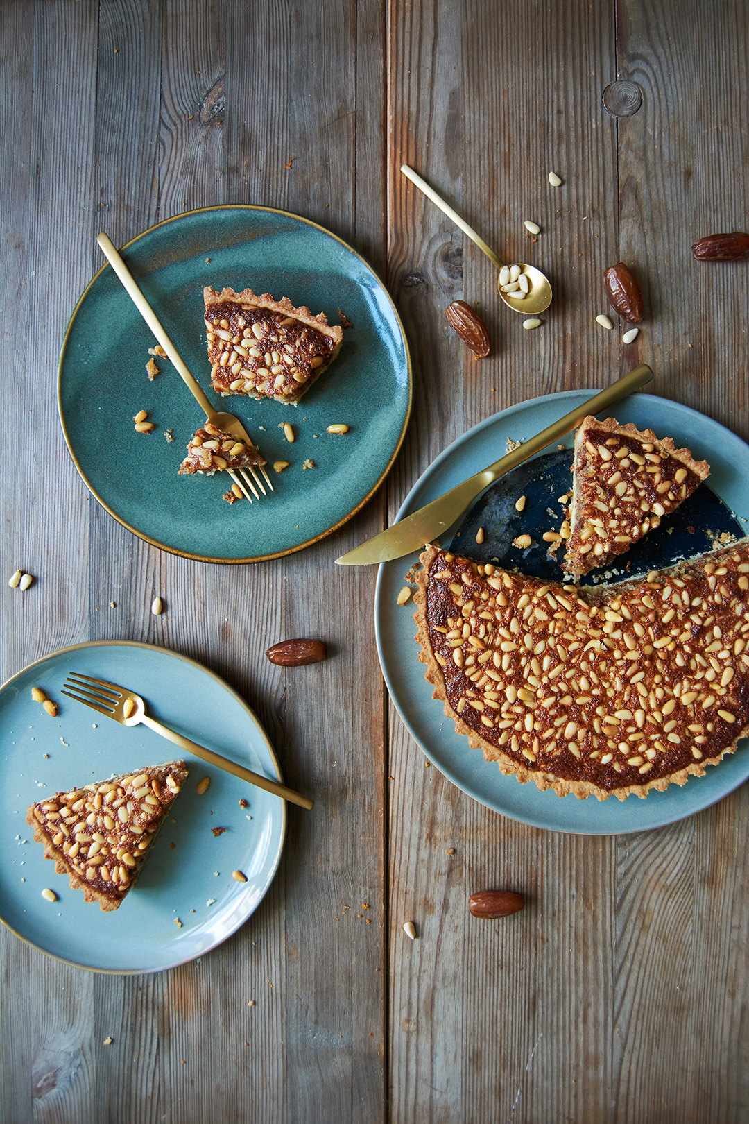 Provençal Pine Nut, Date, and Honey Tart