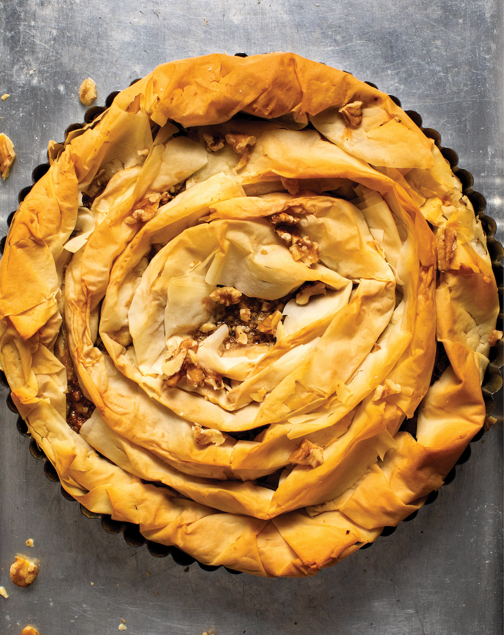 Honey Walnut Orange Pie
