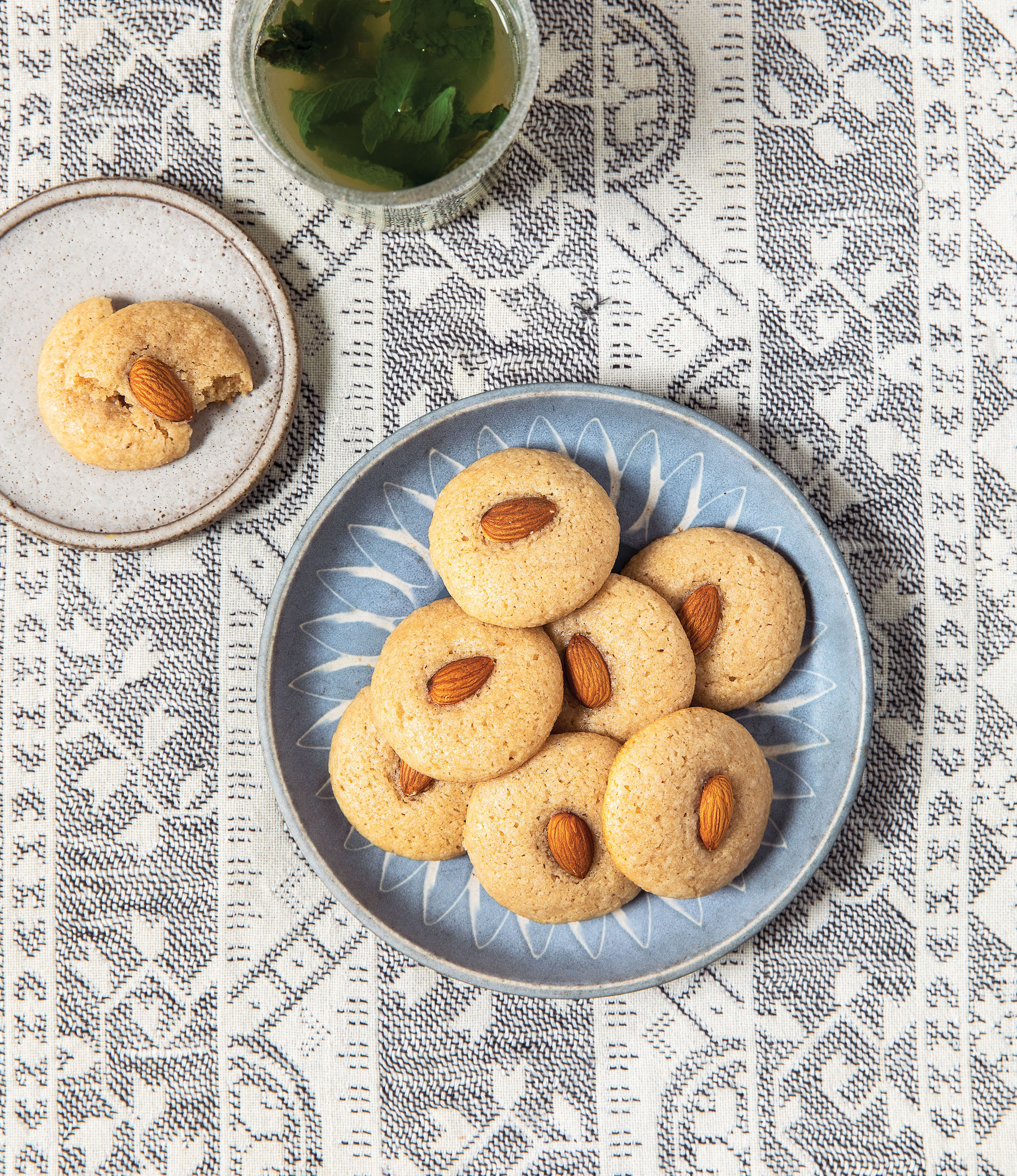 Chewy Iraqi Almond Cookies (Hadji Bada)