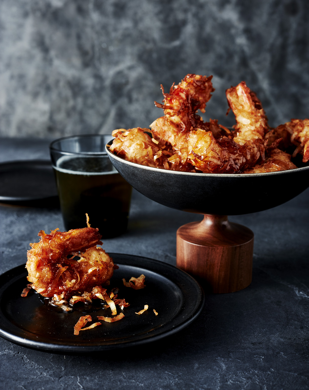 Pancake-Battered Coconut Shrimp