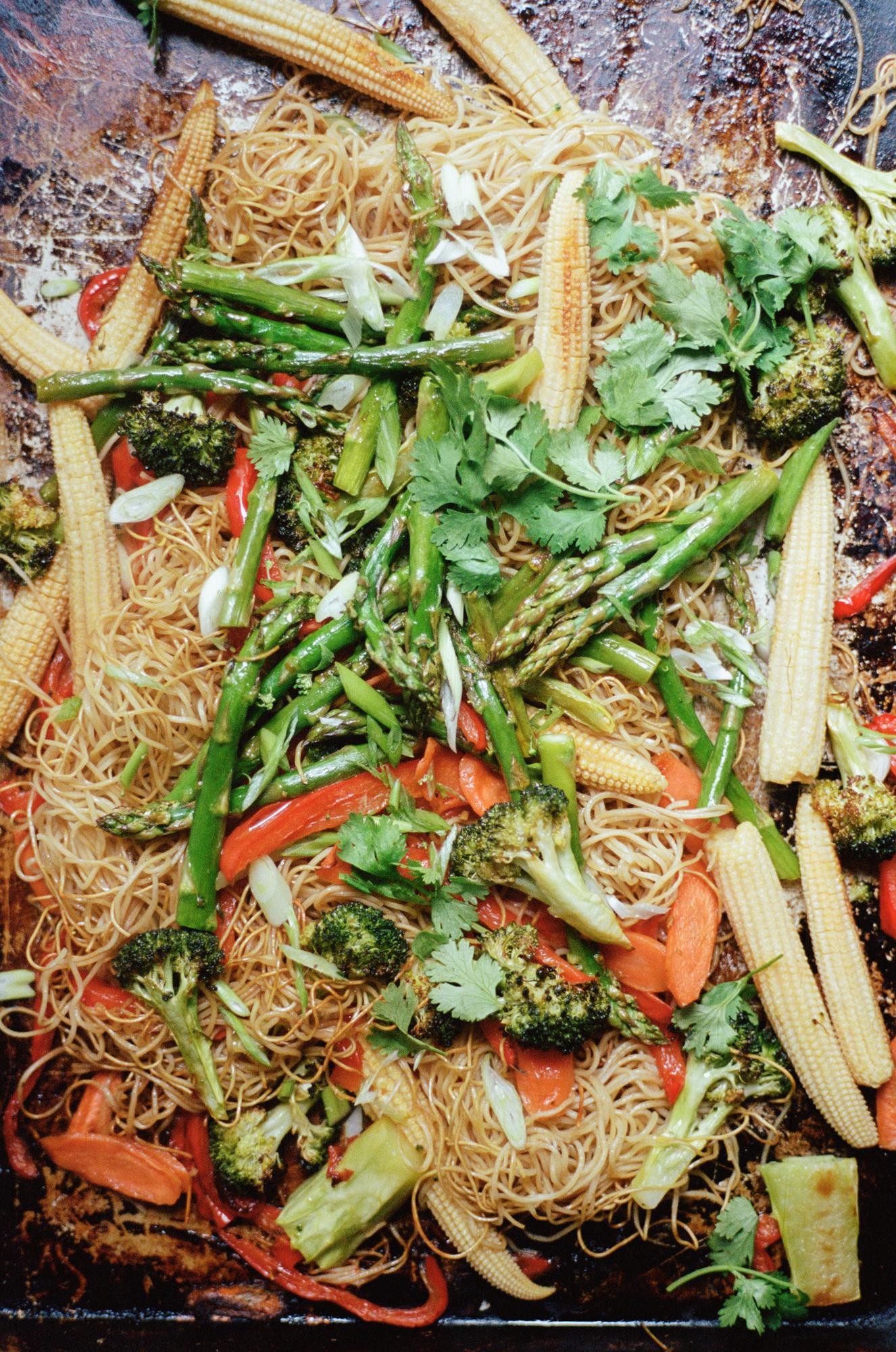 Sheet Pan Chow Mein