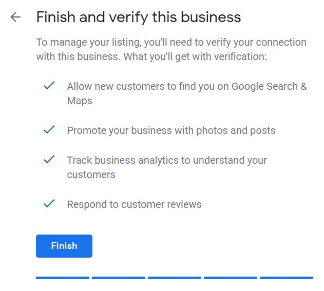 GMB verification example
