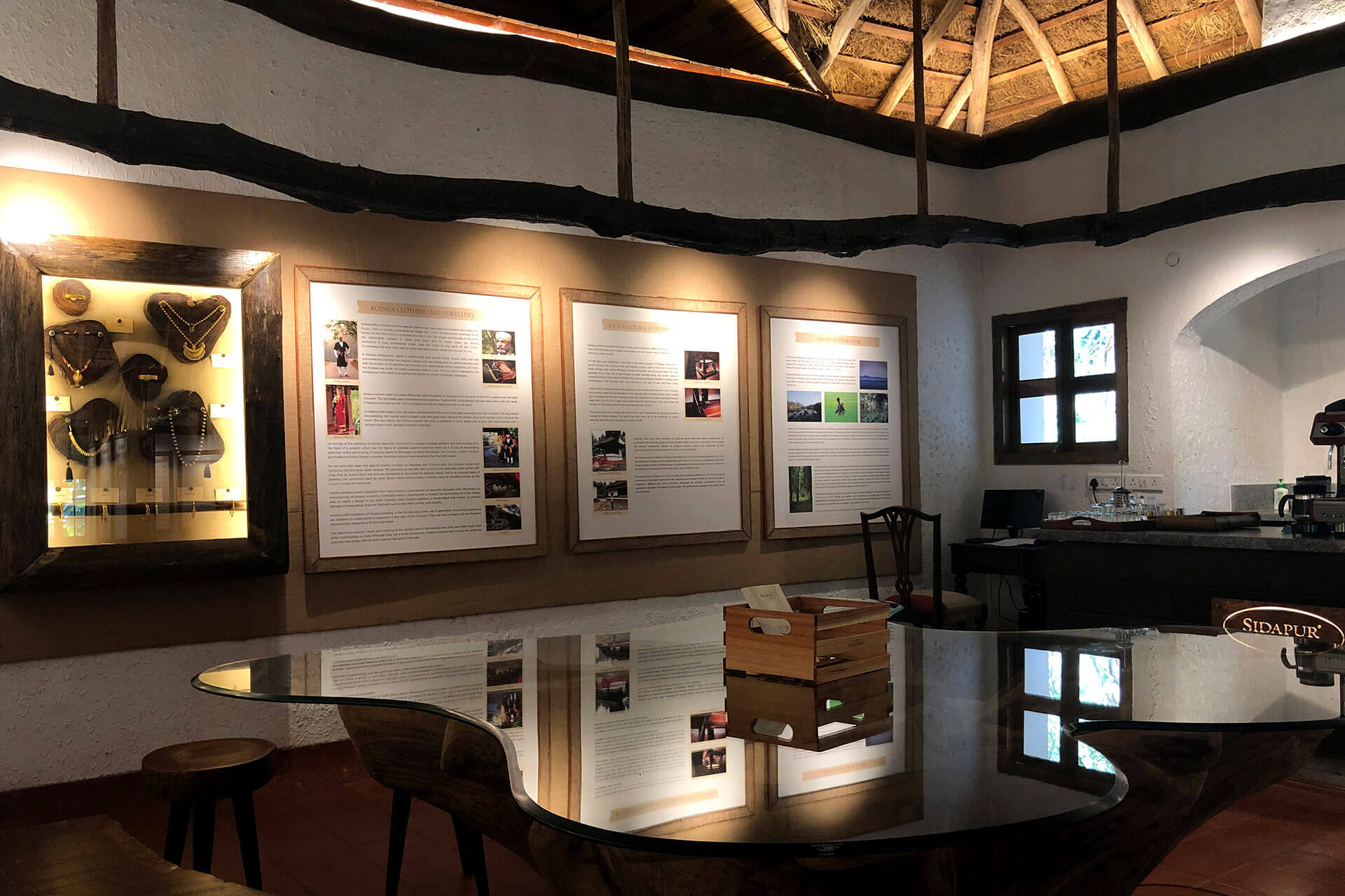 The Kodava wall at the Sidapur Museum of Coffee & Culture