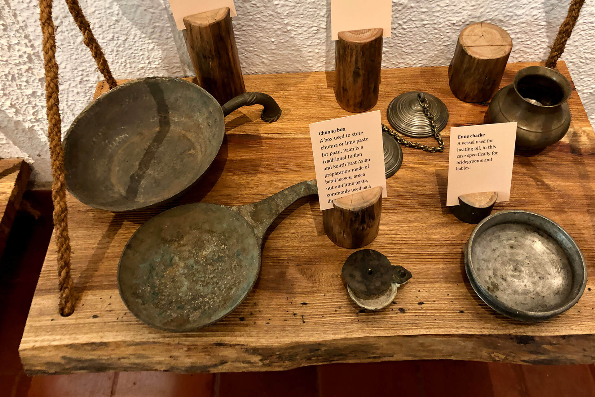 Old artefacts on display at the Sidapur Museum of Coffee & Culture