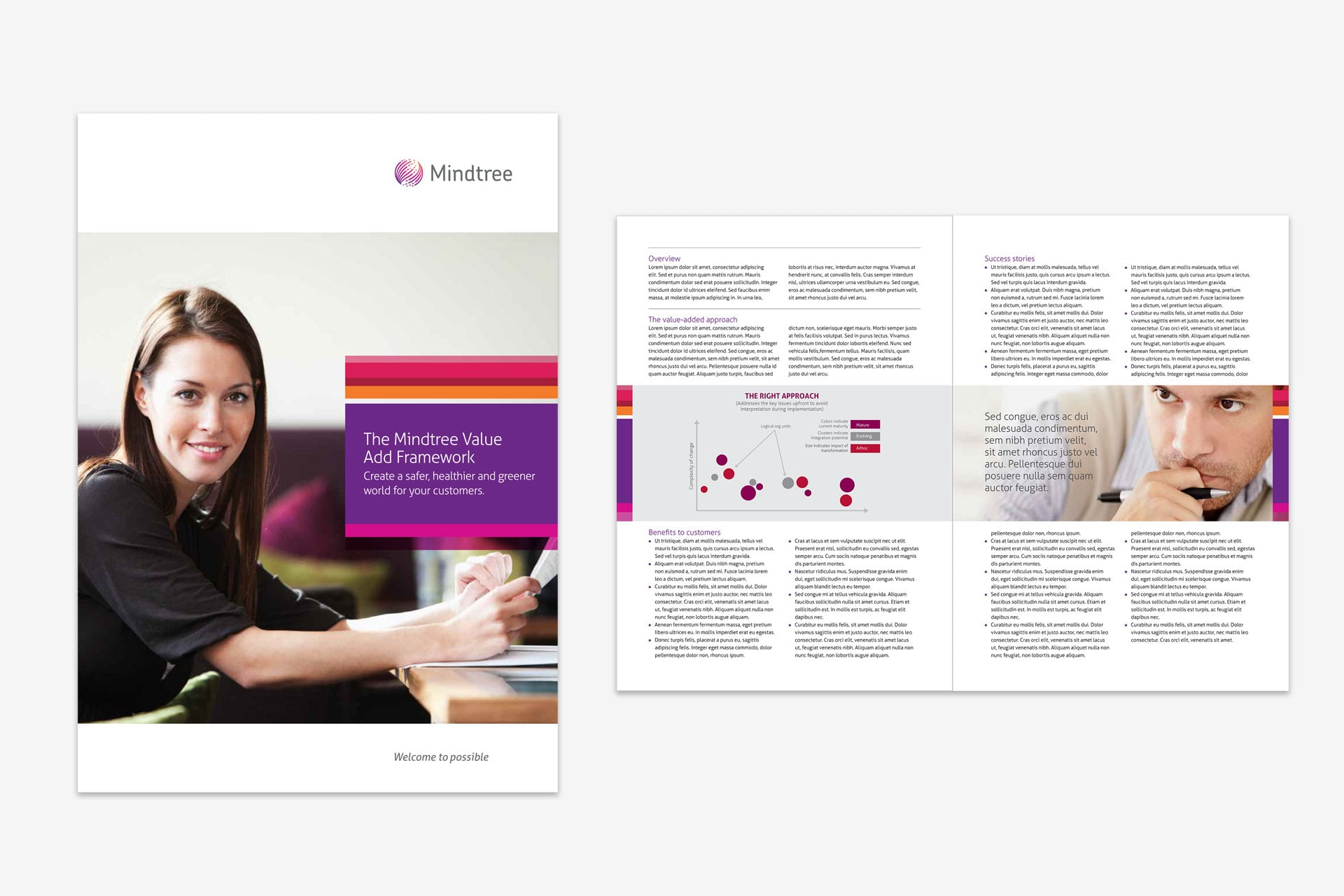 Mindtree brochure design