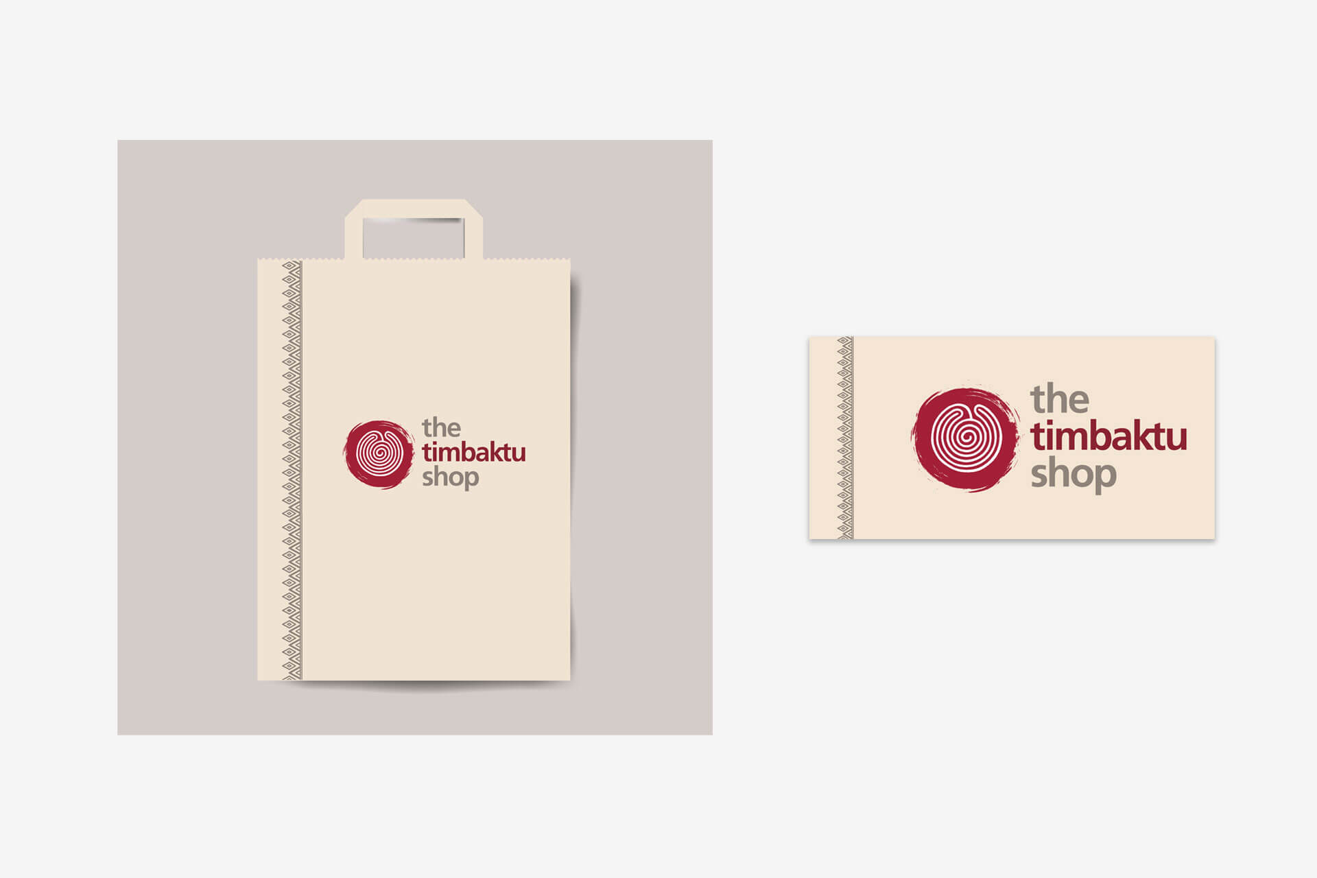 Timbaktu Shop collateral design