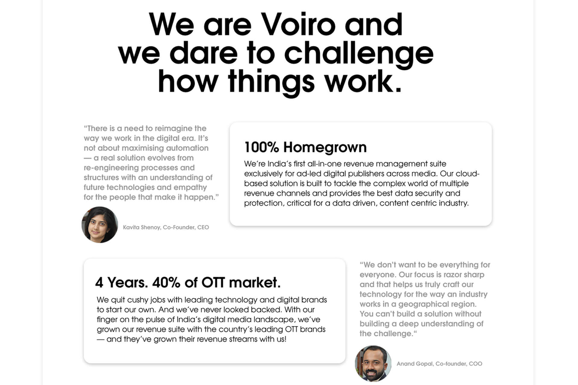 About the team at Vorio