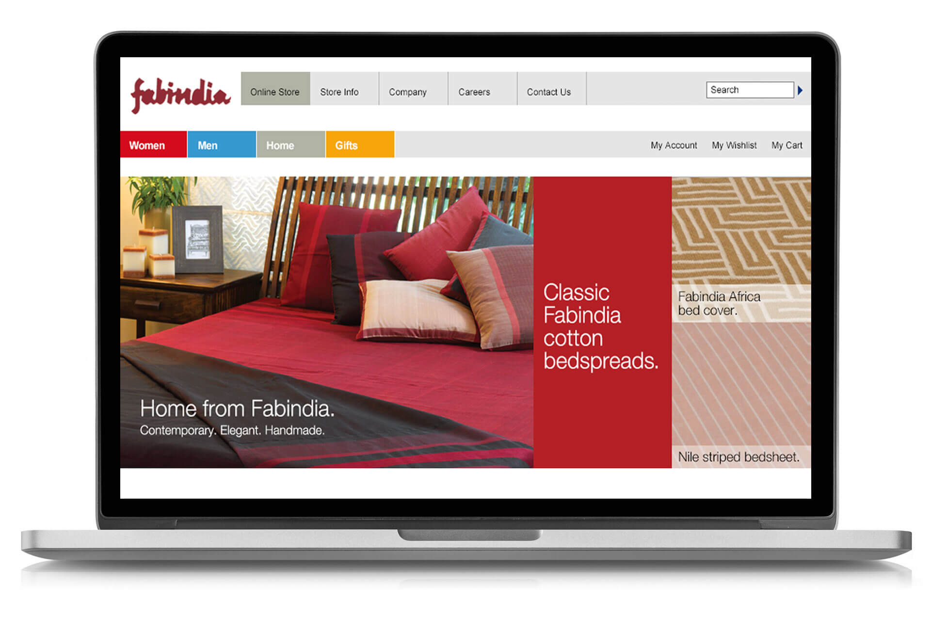 Home product range from the Fabindia online store