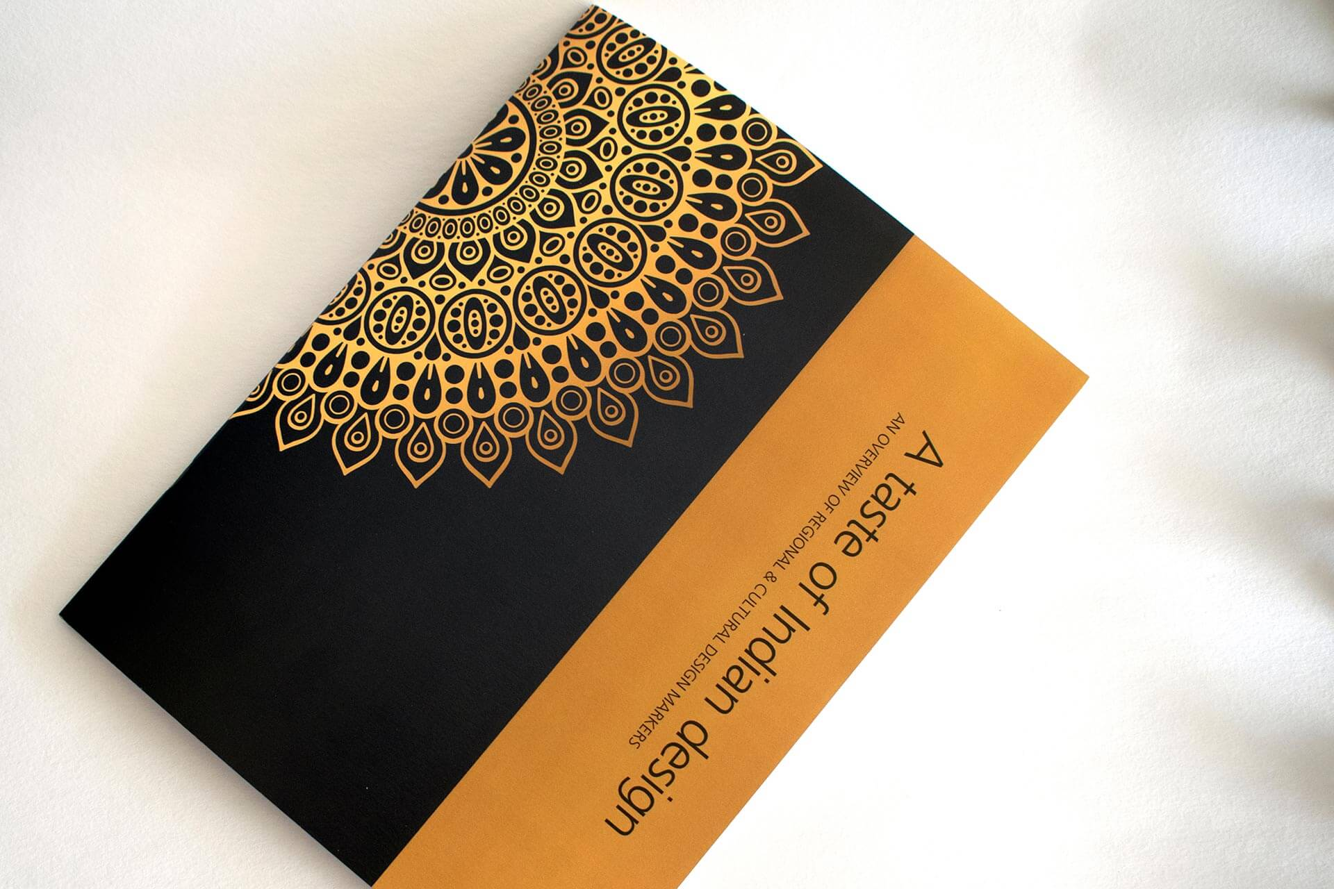 Cover of 'A taste of Indian design'