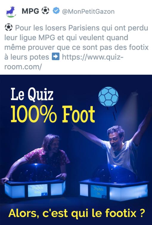 MPG Quiz 100% Foot