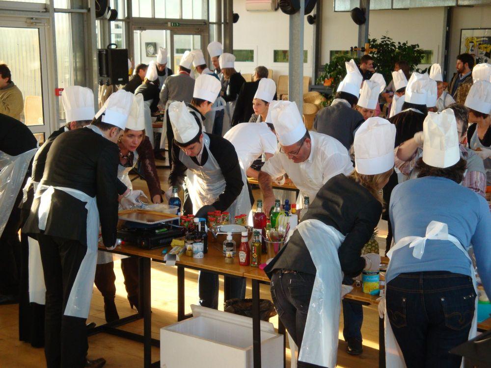 Team building Bordeaux atelier cuisine