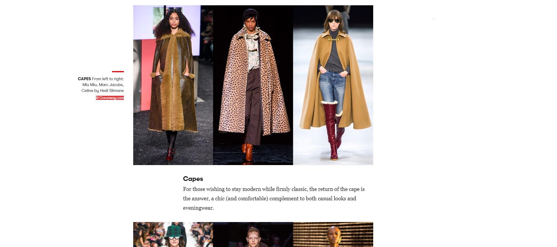 De comeback van de cape, fashiontrend F/W 2019-2020