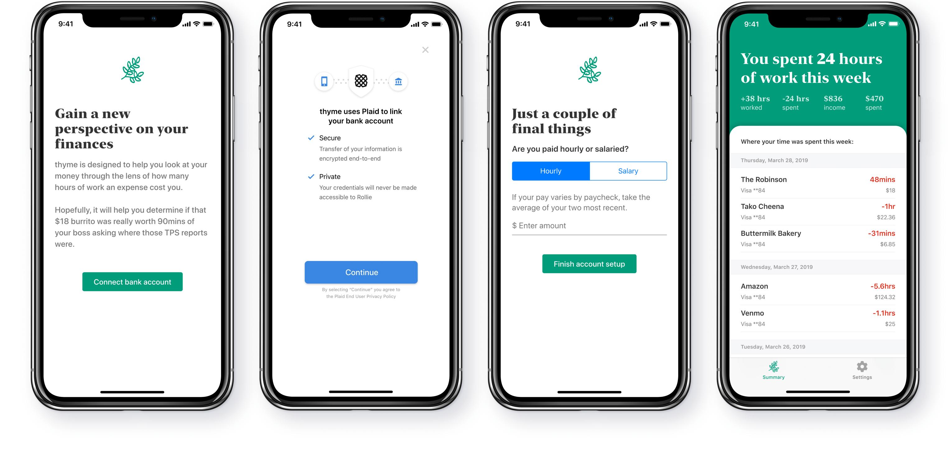 Thyme UI screenshots