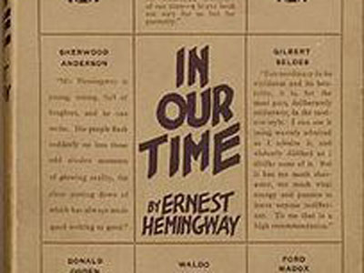 cover of In Our Time first edition